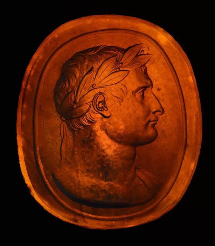 Pietro Paoletti, Matrice con il ritratto di Napoleone coronato d'alloro
