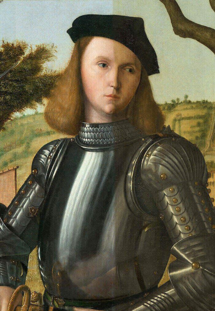 Vittore Carpaccio, Ritratto di cavaliere, in fase di restauro
