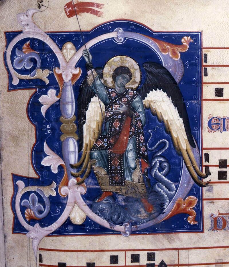 Maestro della Bibbia di Gerona, (Bologna ultimo quarto del XIII secolo), Graduale. Ms. 526, Provenienza San Francesco Bologna, Museo Civico Medievale