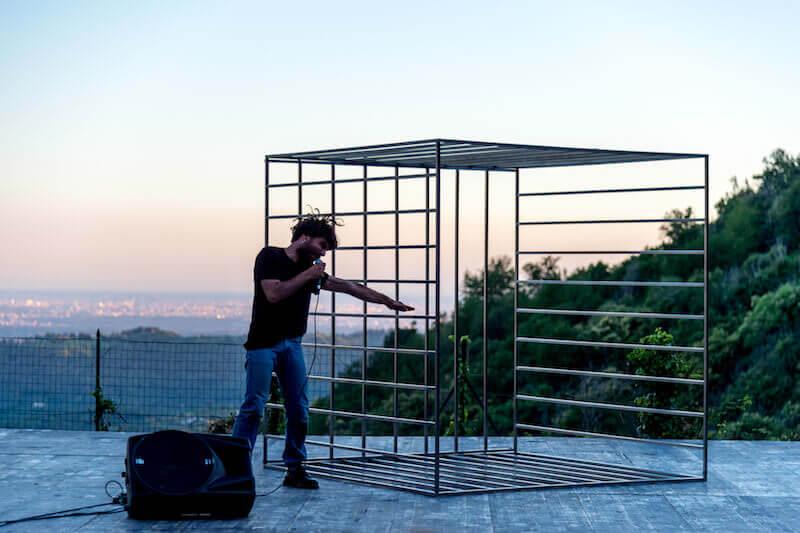 """""""Amleto, una questione personale"""": Sebastiano Sicurezza (foto di Alvise Crovato)"""