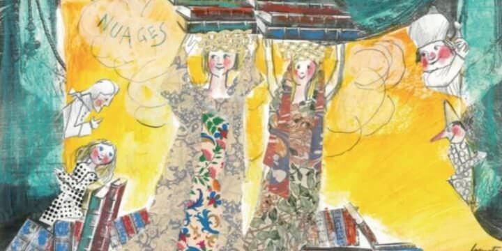 Un'opera di Emanuele Luzzati esposta alla Galleria Nuages di Milano