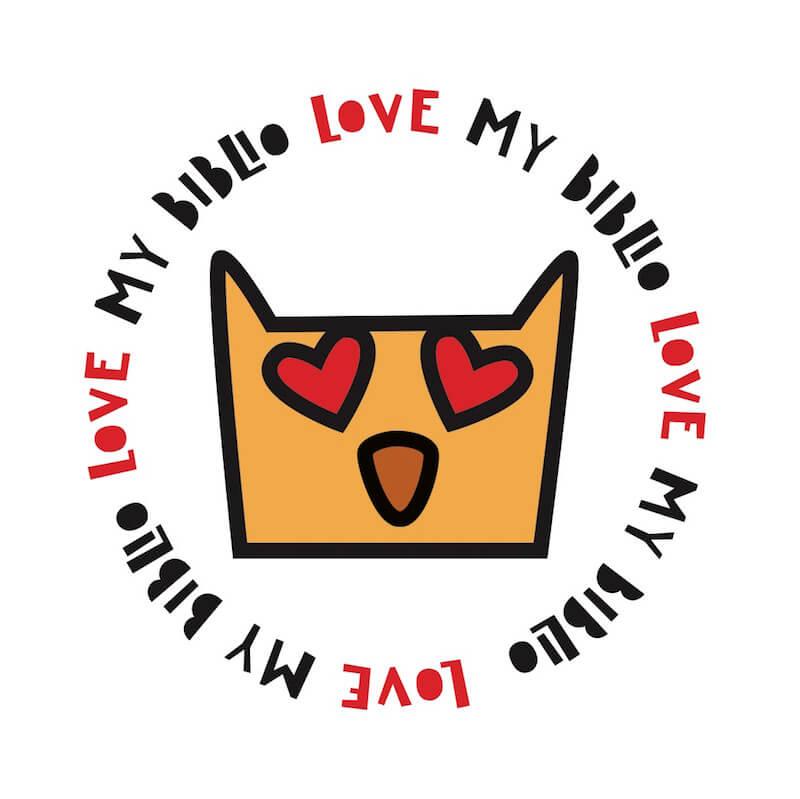 """Logo """"Amo La Biblio"""" di Mezzago"""