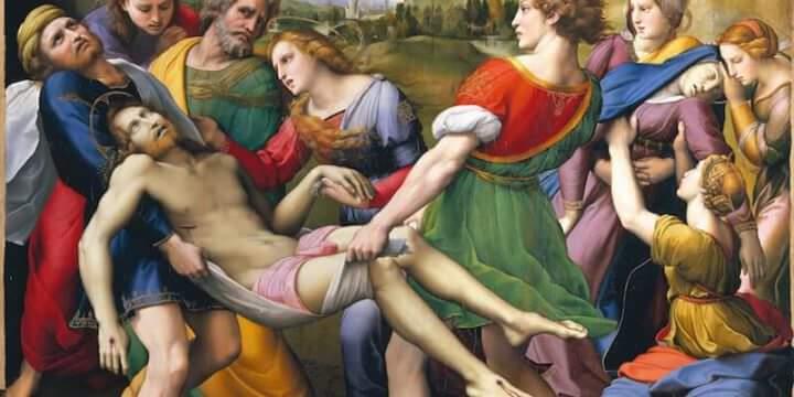 Raffaello, Trasporto di Cristo (Pala Baglioni) © Foto Scala Firenze su concessione MiBACT