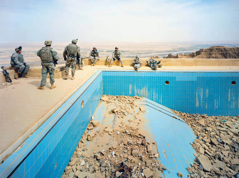 Richard Mosse, Pool at Uday's Palace, Salah-a-Din Province, Iraq, 2009, Courtesy of the artist and Jack Shainman Gallery, New York