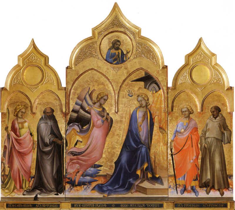 Lorenzo Monaco, Trittico dell'Annunciazione, Galleria dell'Accademia, Firenze