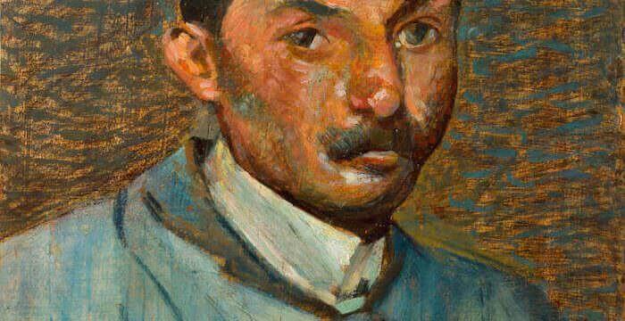 Mario Puccini, Autoritratto (1914). Collezione privata