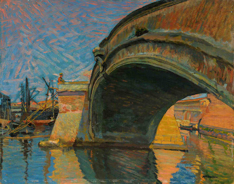 Mario Puccini, Il ponte alla sassaia. Collezione privata