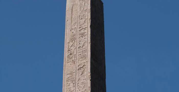 L'Obelisco del Pincio a Roma (foto di Luigi Prada)