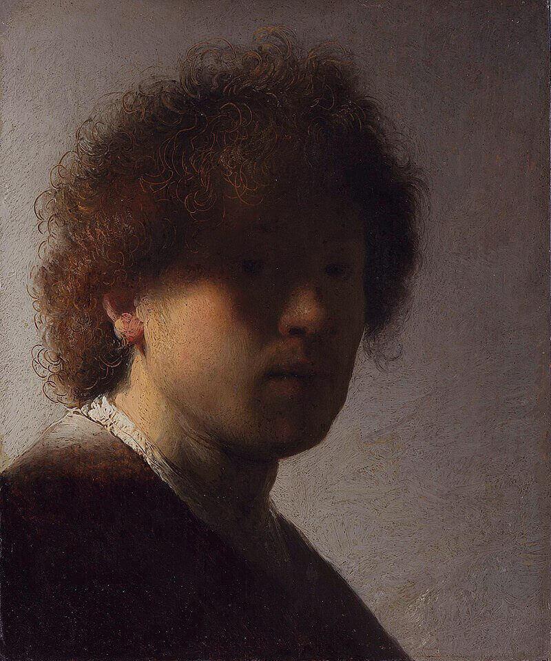 Rembrandt, Autoritratto giovanile