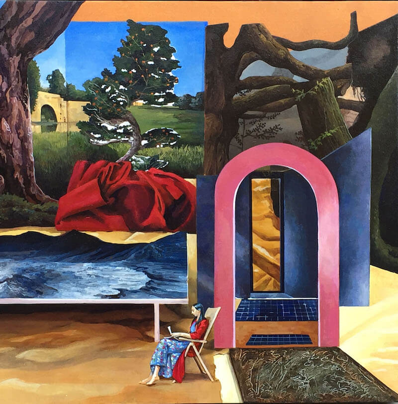 Vanni Cuoghi, Love letters in the sand (La messa in scena della Pittura 07)