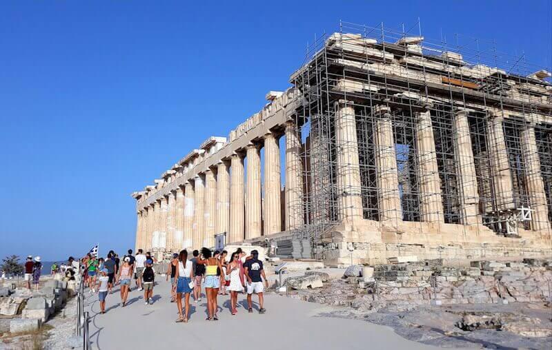 L'Acropoli di Atene con il nuovo percorso asfaltato (estate 2021)