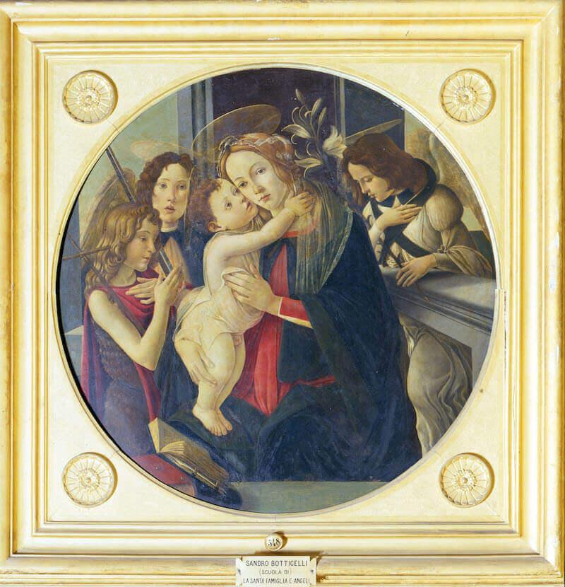 Sandro Botticelli, Madonna col Bambino, San Giovannino e gli Arcangeli Michele e Gabriele