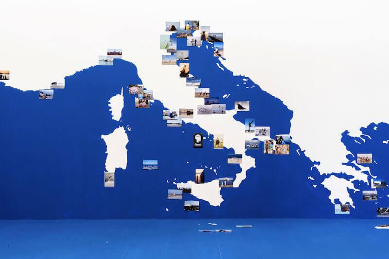 Gea Casolaro, Mare Magnum Nostrum, 2020-2021. Realizzato grazie al sostegno di Italian Council (2020). Installazione al Museo Nazionale di Ravenna. Foto Francesco Rucci