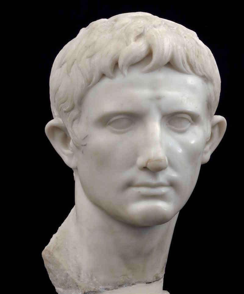 La testa di Augusto rinvenuta a Centuripe nel 1938