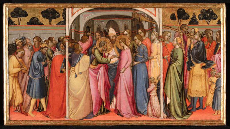 Maestro di Santa Verdiana, Sposalizio della Vergine. Accademia Carrara, Bergamo
