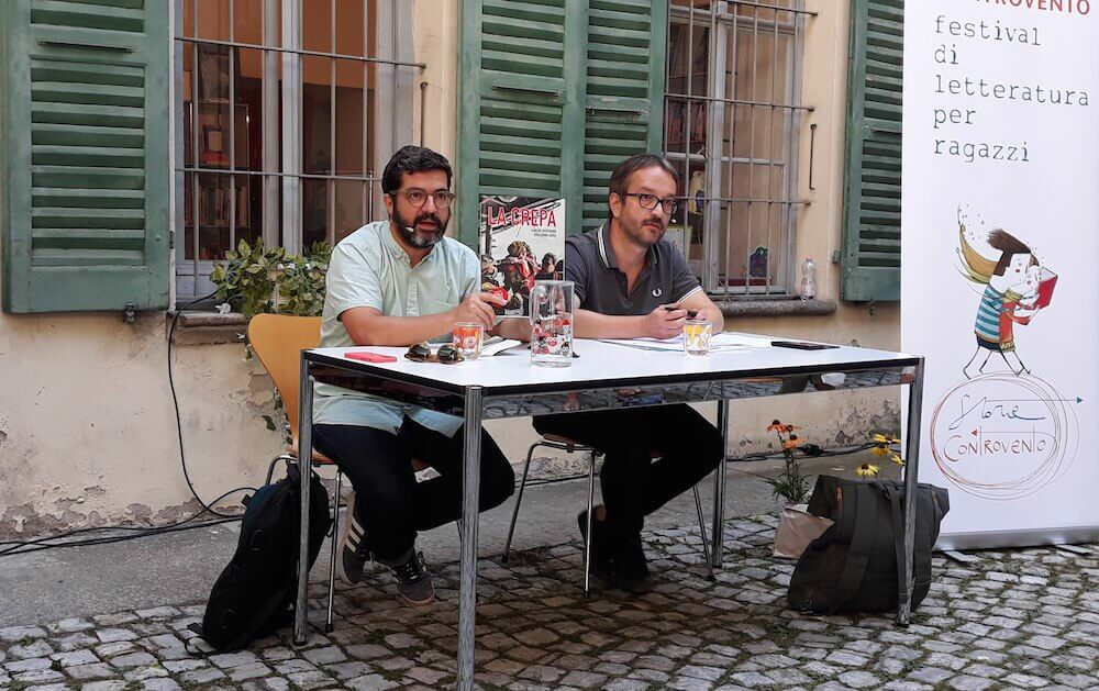 """Carlos Spottorno e Giona Mattei presentano """"La crepa"""" al Festival Babel di Bellinzona"""