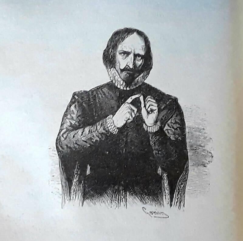 """Francesco Gonin, don Ferrante (da """"I promessi sposi"""" di Alessandro Manzoni, 1840)"""
