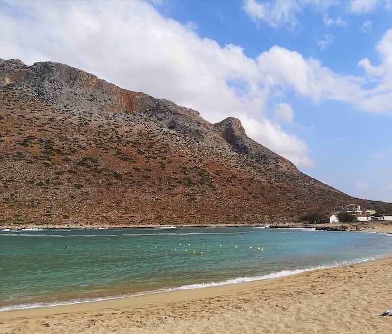 La spiaggia di Stavros a Creta