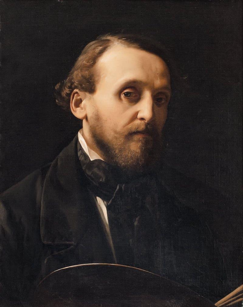 Antonio Ciseri, Autoritratto, 1855, Olio su tela, Collezione privata (foto: Roberto Pellegrini)