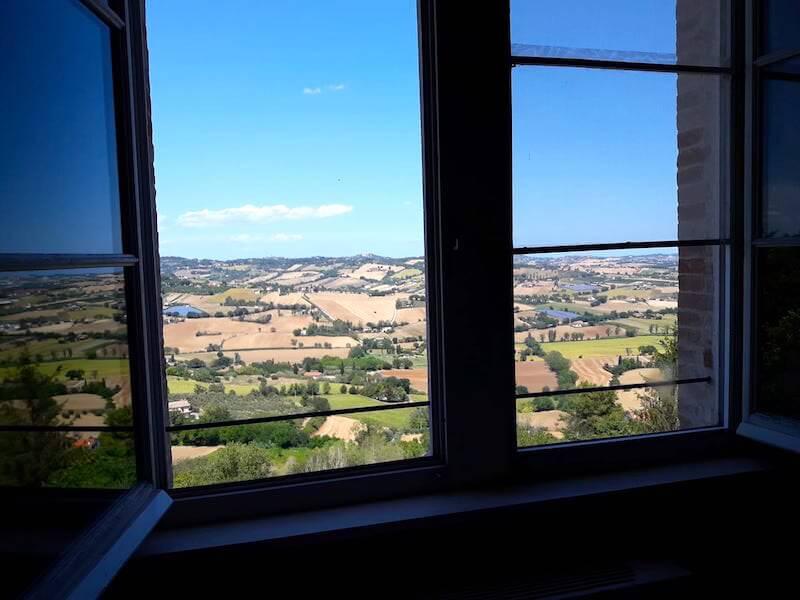 Vista dall'Osteria Moderna di Osimo