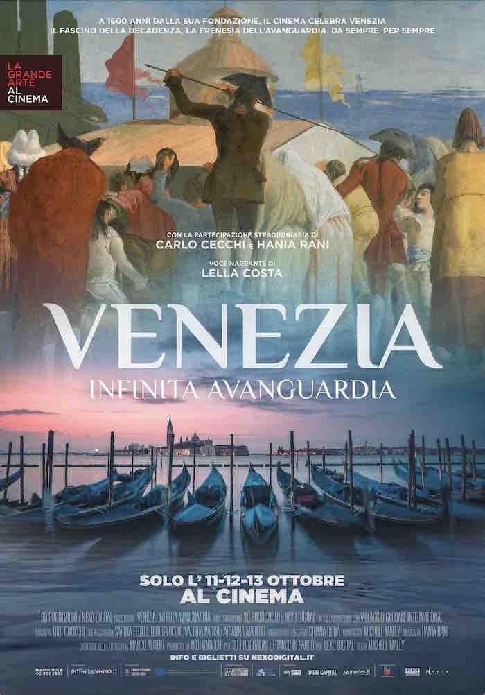 "Poster del docufilm ""Venezia. Infinita avanguardia"""